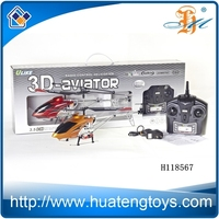 large size radio control helicopter 3D aviator metal 3.5-channel rc helicopter with gyro