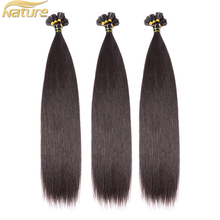 Wholesale unprocessed brazilian hair virgin colored pre-bonded human hair / tiped hair extension of U Tip / nail Tip