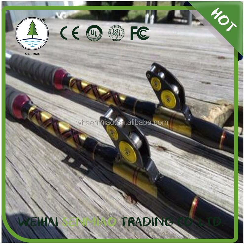 New 80lb Hollow Boat Jigging Saltwater Roller Fishing Rod Coastal Rods