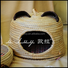 hot cheap round cute pet house willow basket for dog 150823
