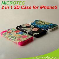 3D sublimation magnetic flip case for iphone 5