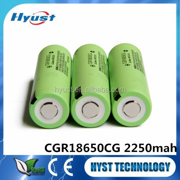 Cylindrical lithium rechargeable battery cell CGR18650CG 2250mAh - Free Samples