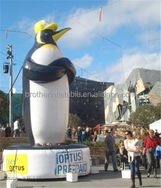 inflatable giant flying penguin balloon / inflatable flying cartoon advertising