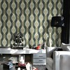 Modern classic non-woven wallpaper with foaming PVC and glitter wallpaper for hotels