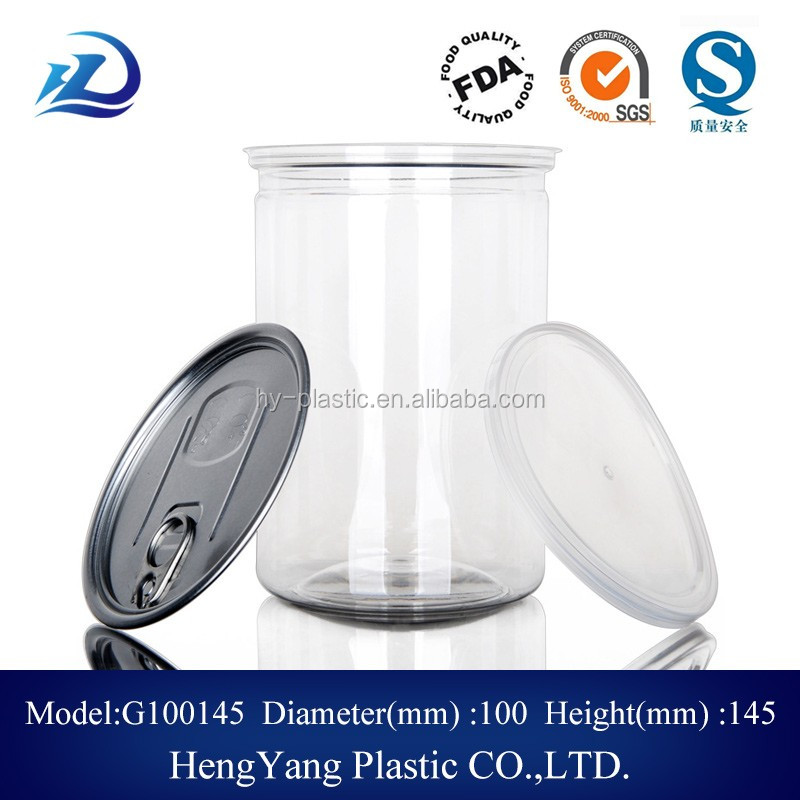 plastic food can popcorn container food grade container