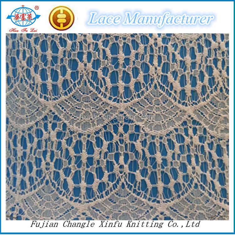 Changle Lace Cotton Nylon Eyelash Scallop Lace for Clothes