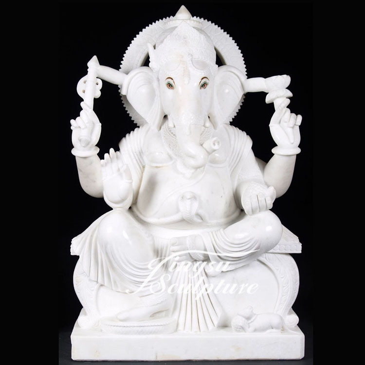 Multifunctional white marble ganesh statues for sale