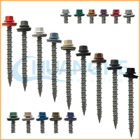The best quality in Alibaba painted hex washer head self drilling roofing screw with epdm washer