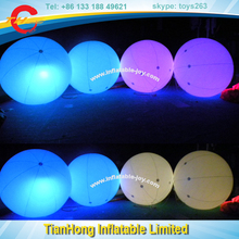 outdoor advertising use inflatable balloon with led light / custom make advertising light balloon