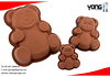 Cute bear shapes silicone baking mould,cookie mould,SGS approved
