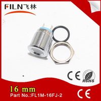 16mm panel diameter brass chrome bezel 12v car led signal lamp solder contact water cooler
