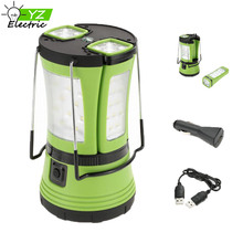 Multi-Functional Rechargeable LED Camping Lantern With 2 Detachable Flashlight
