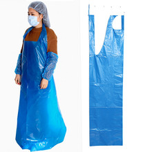 Blue Medical PE apron disposable plastic aprons