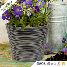 Plastic plant pots/ Decorative Carved/10 years lifetime/12-80cm/ lightweight/ UV protection/ eco-friendly