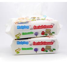 Biodegradable Baby Facial Tissue Wipes 100% cotton Baby Dry Towels