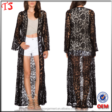 Wholesale clothing factory oem summer long coat lace kimono