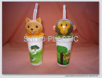 Cartoon cup ( Cat , Monkey head )