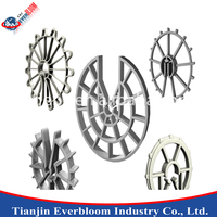 Plastic rebar clip spacer wheel spacer round concrete plastic rebar chair made in china