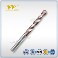 5D Internal Coolant Carbide Coated Twist Drill for Stainless Steel Machining