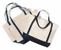 Factory price eco cotton tote shopping bag with outside pocket and bottom
