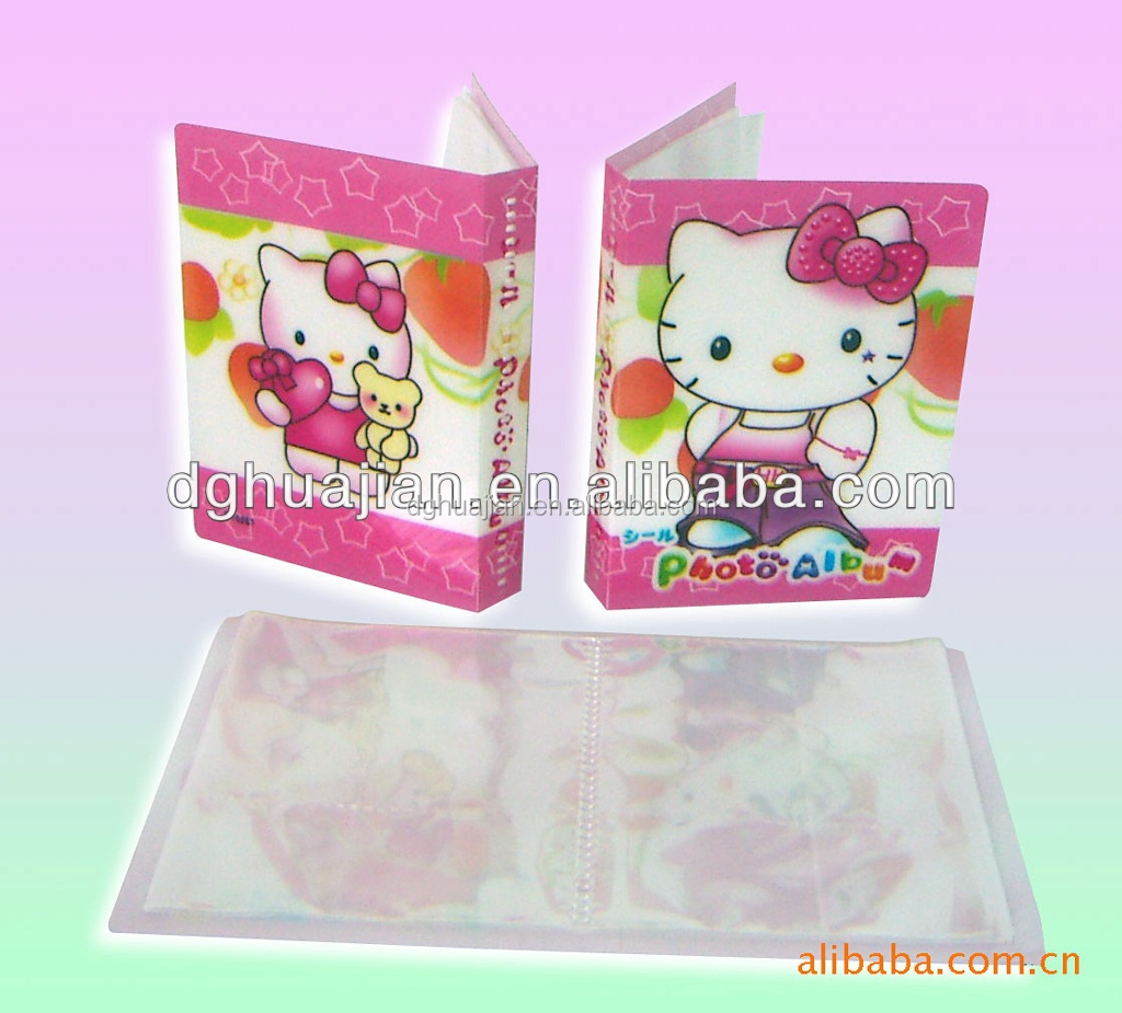 Hello kitty Cute good quality pp photo album from Dongguan Manufacture