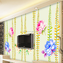 High Quality 3d Wall Mural for Beautiful Rose Flower Wallpaper for Wall Decoration