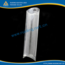 clear pvc pillow box round hang hole