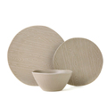 Wood grain like ultra-fine 12pcs melamine salad bowl and dish set