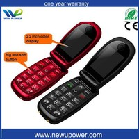 NEW and HOT Unlocked Big button Flip Senior mobile phone prices in singapore