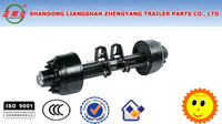 semi-trailer square round shape axle track:1840mm German style axle wheelchair axles