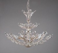 Antique Italian style iron chandelier crystal with 8 lite ideal for hotel or lobby