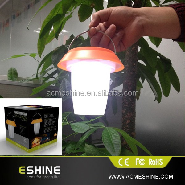 Green Energy Portable Solar Lantern With Mobile Phone Charger