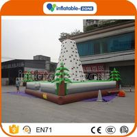 Professional promotion inflatable mobile climbing wall hot inflatable water rock climbing wall