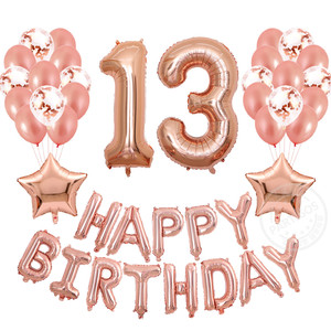 13th 31st Birthday Party Decorations Rose Gold Number 13 31 Banner