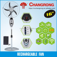 16inch rechargeable solar fan home appliance AC DC floor digital fan