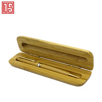 Business gift personality and simple high quality wood single groove pencil box with various wood