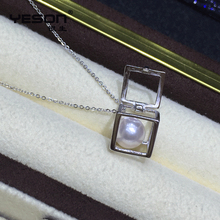 Fashionable low price pearl pendant cage locket with high quality