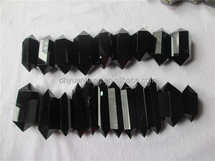 Natural balck Rock Obsidian Terminated Point For Sale/ Gemstone Obsidian Carved Terminated Crystal Prisms