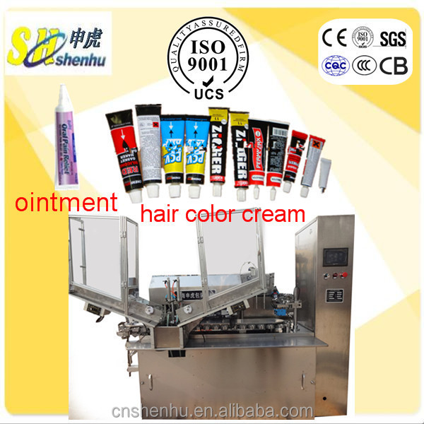 Hot Sale Pain Relief Ointment and Hair Dye Color Cream Automatic Aluminium Tube Filling and Sealing Machine With CE Certificate