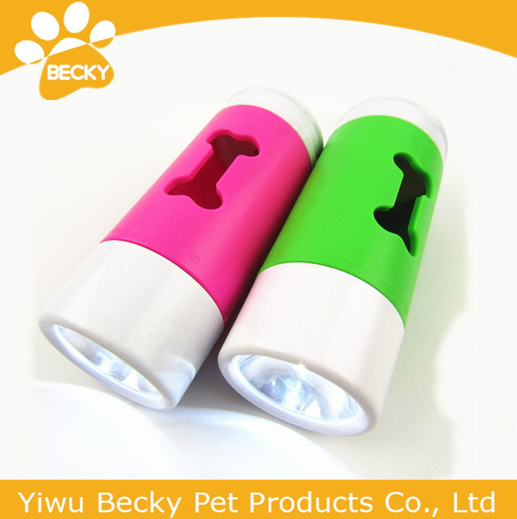 Pet Waste Bag Flashlight Set Pick up LED Light Dog Poop Bag Dispenser