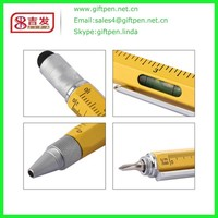 Factory Supplier Newest Stationery Custom Shaped Stylus Pen 6 In 1 Pen