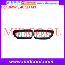 High Quality For BMW E46 2D M3 /M SPORT- 99-03 E46 2D Coupe Carbon look FRONT HOOD GRILLE 2001-2006