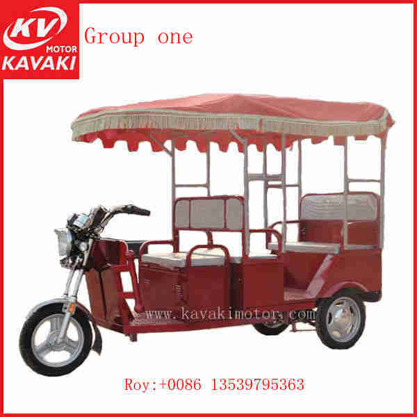 Make In China Taxi Three Wheel Motorcycle Electric Passenger Keke Tricycle With Driver Room