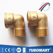 High quality OEM brass screw elbow compression fitting for copper pipe