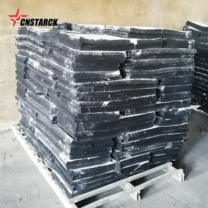 High strength fine reclaimed rubber with recycle rubber pallets
