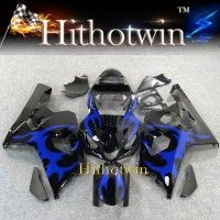 2004 2005 GSXR600/750 K4 For Suzuki GSXR600 GSXR750 2004 2005 blue flames black ABS Plastic Fairing Bodywork Set Kit