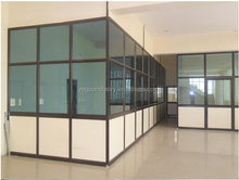 Aluminium partition section extrusion profile for glass wall