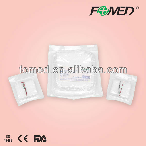 surgical sterile laparotomy sponge 45*45cm with CE,FDA