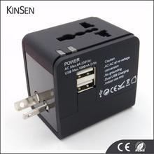 Hot selling Dual Ports Universal Travel Adapter For All Smartphones Usb Travel Adapter