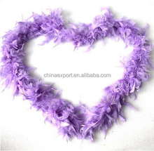 Wholesale High Quality Purple Fluffy Feather Boas For Decoration Craft Costume